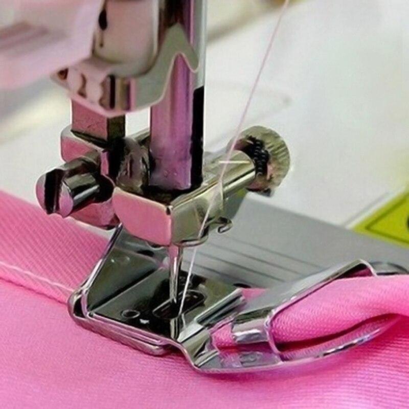 "Domestic Sewing Machine Presser Foot 1/4"" Crimping Presser Foot 6MM Rolled Hem Presser Foot Holder Quick Change"