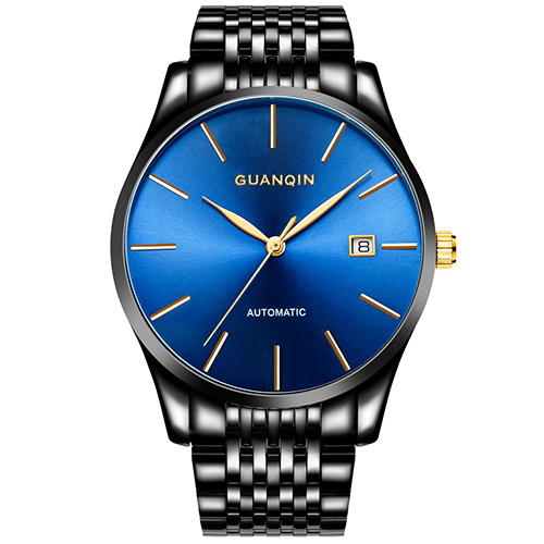 GUANQIN Luxury Brand Fashion Automatic Mechanical Watch Men Classic Business Watches Men Waterproof Stainless Steel WristwatchesGUANQIN Luxury Brand Fashion Automatic Mechanical Watch Men Classic Business Watches Men Waterproof Stainless Steel Wristwatches
