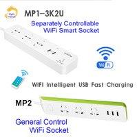 BroadLink MP1-3K2U Smart Power Strip Sockel Separat Steuerbar WiFi Smart Buchse Power Sockel Automation Vs MP2 MP1 1K3S2U