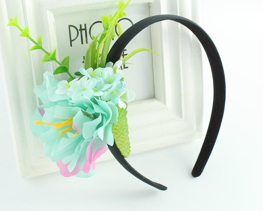 hair wedding flower garlands of Bohemian women head scarf headgear Flowers crown headband hair band headdress