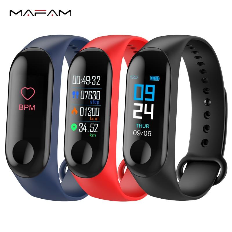 MAFAM M3 Banda Intelligente Misuratore di Pressione Sanguigna Per Il Fitness Tracker Contapassi Monitor di Frequenza Cardiaca Smart Wristband Del Braccialetto Per IOS Android Phone