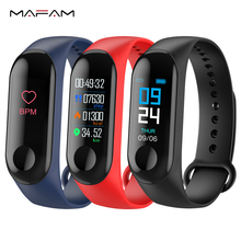MAFAM M3 Smart Band Blood Pressure Fitness Tracker Pedometer Heart Rate Monitor Smart Bracelet Wristband For IOS Android Phone