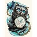 Чеширский кот Алиса Алмазная картина Страна Чудес вышивка крестиком Мозаика подарок домашний декор XU