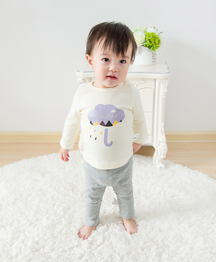 2017 Toddler Kids Baby Boys Girls Infant spring Autumn Long Sleeve cartoon Fox T-Shirt Tops Clothing Cotton cloud rain T-Shirts (18)