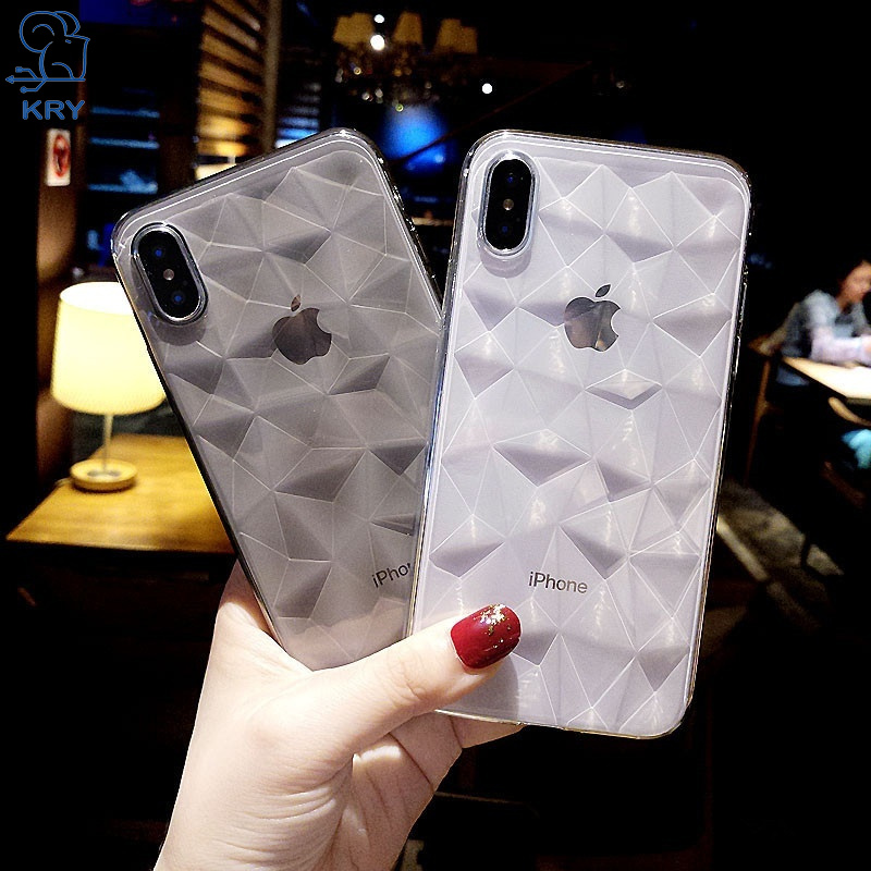 Diamond Texture Soft TPU Phone Cases For iPhone XS MAX