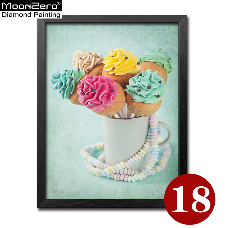 Full 5D DIY Diamond Painting Embroidery Handwork Cross Stitch Diamond Mosaic Restaurant  Decor  Many tastes Ice Cream Cake 18