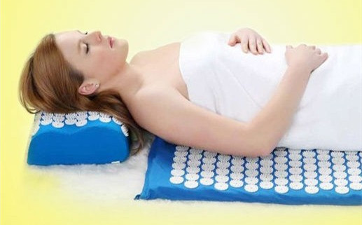 Health Care Pain Relief Acupuncture Massager Cushion for Shakti Acupressure Yoga Body Massage Mat appro.67*42cm acupressure spike yoga pillow mat relief health care shakti massager relaxation neck back pain treatment