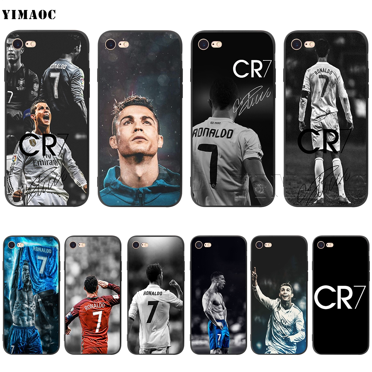 wholesale dealer 4f5bd 65ab0 US $2.5 24% OFF|YIMAOC CR7 Cristiano Ronaldo Silicone Soft Case for iPhone  XS Max XR X 8 7 6 6S Plus 5 5S SE-in Fitted Cases from Cellphones & ...