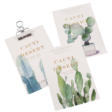 30pcs/pack Wandering Cactus Boxed Postcard Greeting Card For Daily Life Birthday Party Invitation