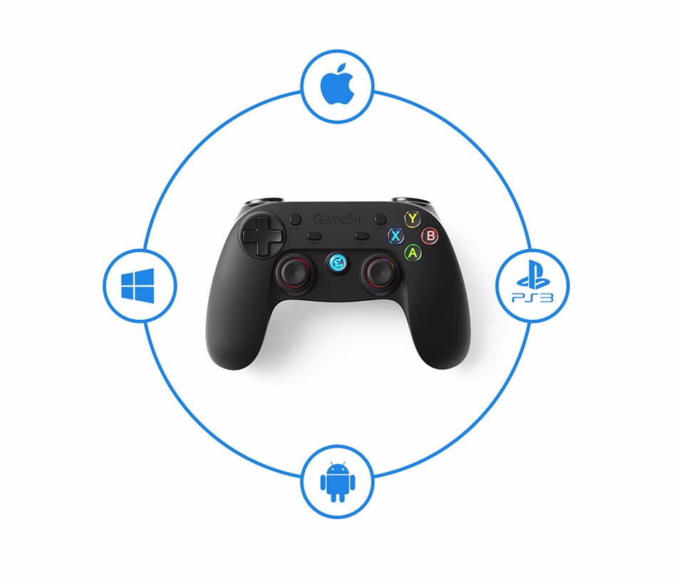 GameSir G3s Gamepad for PS3 Controller Bluetooth&2.4GHz snes nes N64 Joystick PC for Samsung Gear VR Box for SONY Playstation 2 2