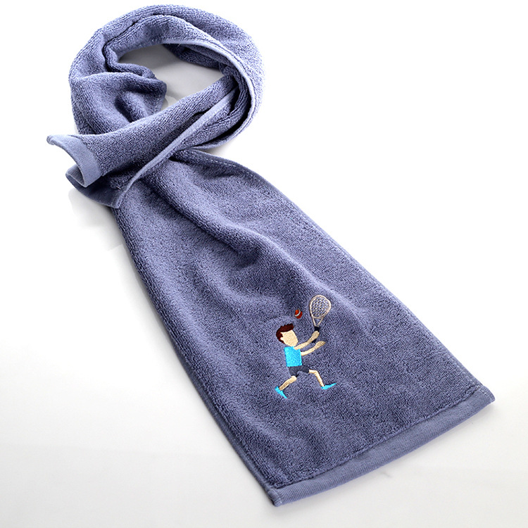 1PC 20 110cm Cotton Embroidery Sports Towel Soft Absorbent Yoga Gym Camping Golf Fitness Sweat Towel Sports Cartoon Towel in Sport Towels from Home Garden