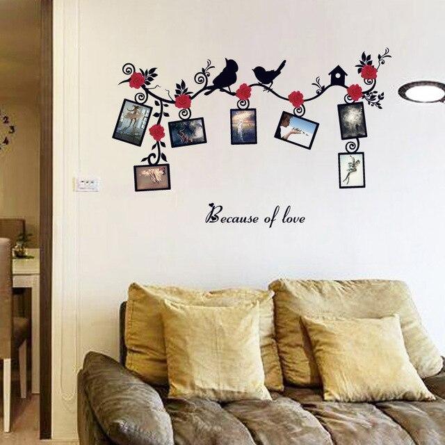 Fundecor] rose fotolijst diy muurstickers home decor woonkamer ...