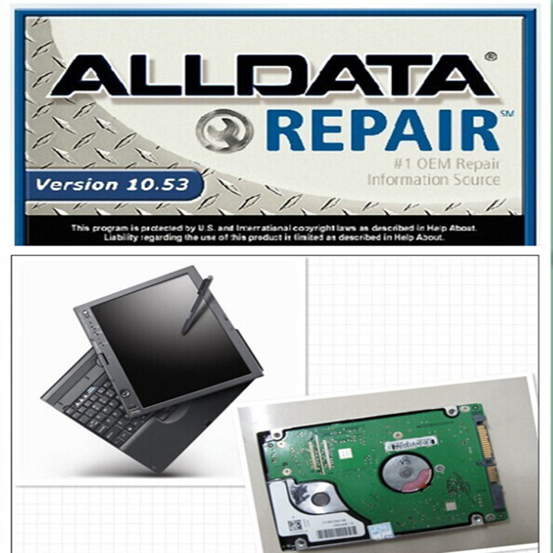 v10 53 alldata and mitchell software 2015 in 1000gb hdd 2 auto repair softwares installed in