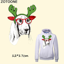 ZOTOONE Dog Patches Iron on for Clothes Children Christmas Gift T-shirt Dresses Jeans Socks DIY Accessory Kids C