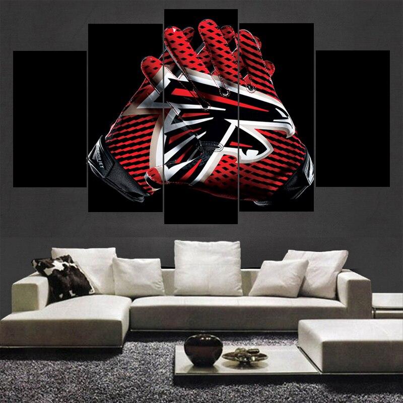Atlanta Falcons Sports Team Logo Painting Canvas Wall Art Picture Home Decoration Living Room Print Modern Helme