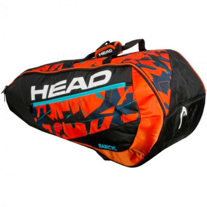 Head Tennis Bag Large Capacity Badminton Backpack Squash Sports Raquete De Tennis With Shoe Bag Can