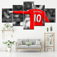 Canvas Painting football start Wayne Rooney 5 Pieces Wall Art Painting Modular Sport Wallpapers Poster Print Home Decor rooney s conversations with friends м rooney