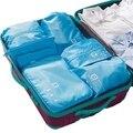 7 шт./компл. камера организатор полиэстер портативный путешествия раздел чехол для хранения сумки для одежды и косметической упаковки кубиками