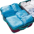 7pcs/set luggage organizer polyester portable travel partition pouch storage bags for clothes and cosmetic packing cubes