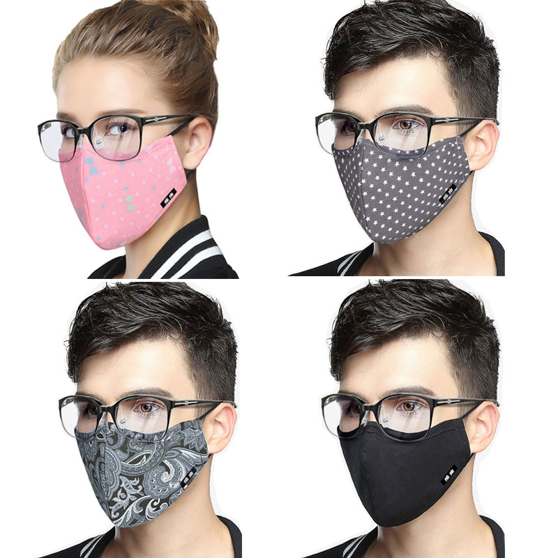 Korean Cotton Mouth Face Mask Anti-Dust Mask KN95 Respirator With Activated Carbon Filter Anti Dust Black Kpop Mask On The Mouth