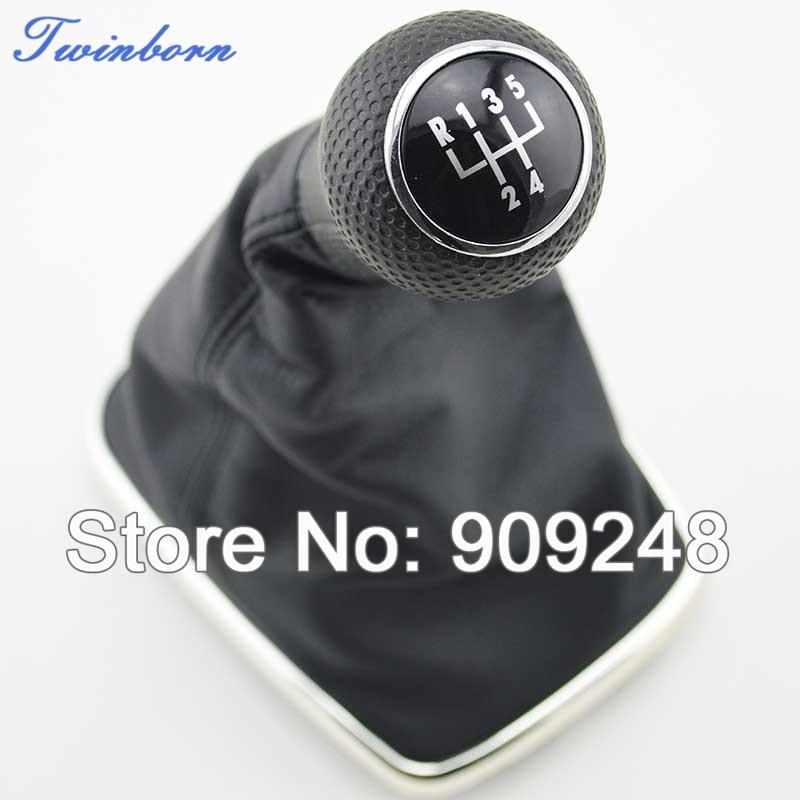 FOR VW JETTA GOLF GTi R32 MK4 1999-2004 5-SPEED GEAR SHIFT KNOB GAITOR BOOT V0019 - TwinBorn Auto Accessory store