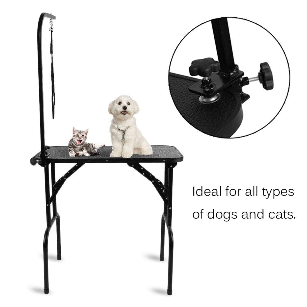Регулируемая высота парикмахерский стол для домашних животных нержавеющая сталь Складная Собака Кошка Красота стол Professional зоотоваров