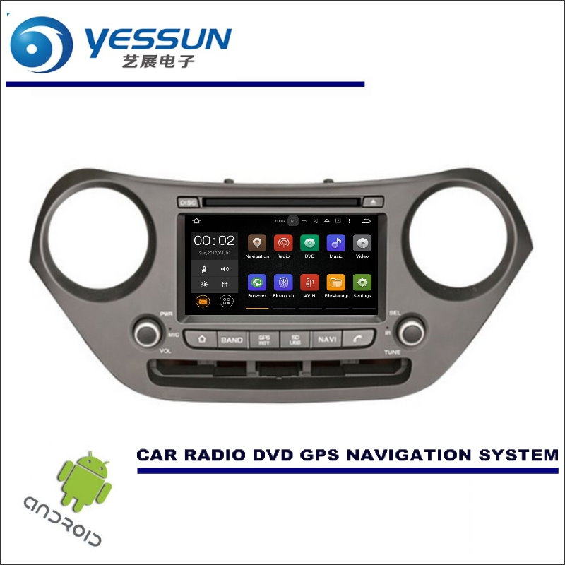 YESSUN Wince / Android Car Multimedia Navigation For Hyundai Grand i10 2013~2016 LHD CD DVD GPS Player Navi Radio Stereo HD цена
