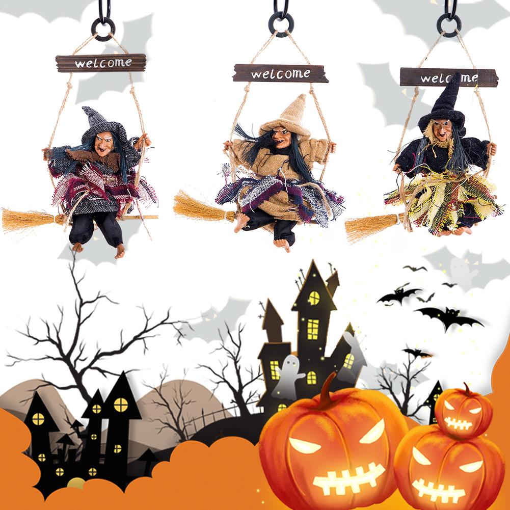 Halloween Decoration Resin Material Ghost Witch Horror Scary Hanging Welcome Witch Halloween Pendant kołyska newtona