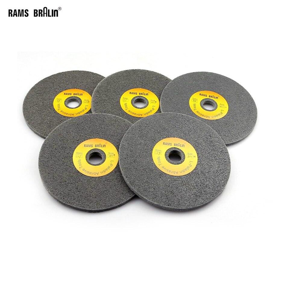 10 Pcs 150*6mm 7P-12P Non-woven Unitized Wheel 180# 240# 400# For Stainless Steel Deburring Polishing
