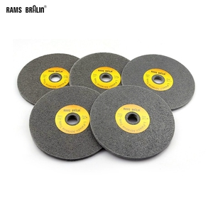 Image 1 - 10 pcs 150*6mm 7P 12P Non woven Unitized Wheel 180# 240# 400# for Stainless Steel Deburring Polishing