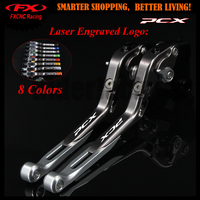For Honda PCX125 PCX 150 PCX 125 150 All years 2010 2017 2013 2014 2015 Sliver+Titanium Logo Motorcycle CNC Brake Clutch Lever