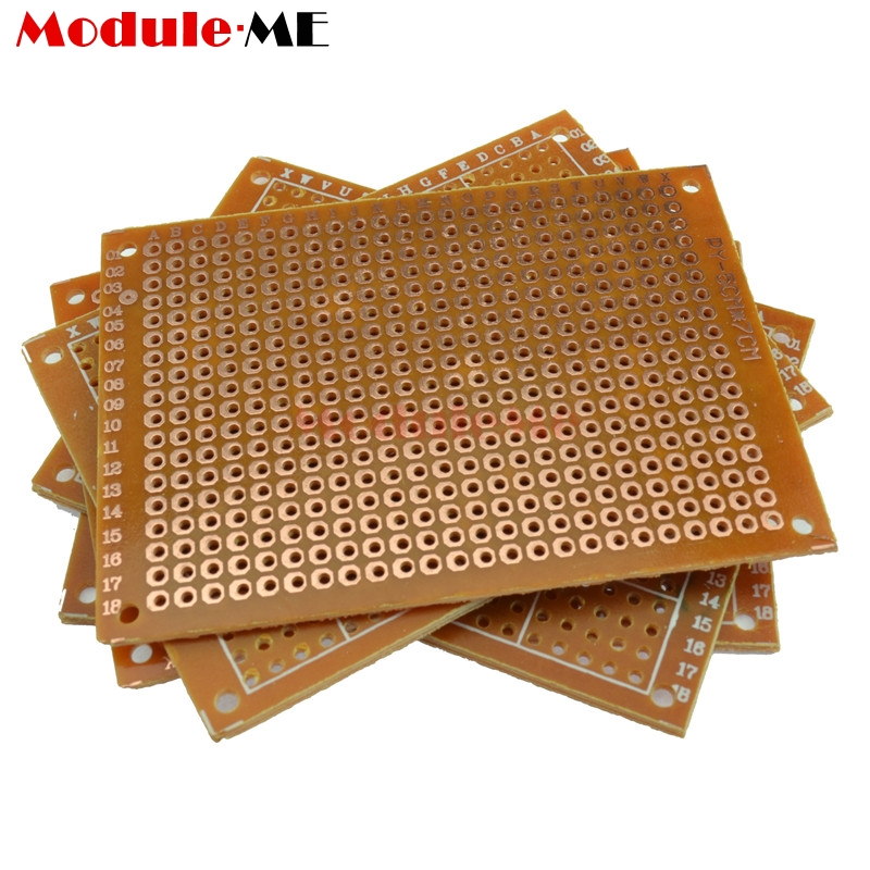 10PCS Universal PCB Board 5x7 5 x 7 cm 2.54mm DIY Prototype Paper Printed Circuit Panel 5x7cm 50x70mm 10 double side double side prototype universal pcb panel printed circuit board for arduino 2 8cm fiber glass new