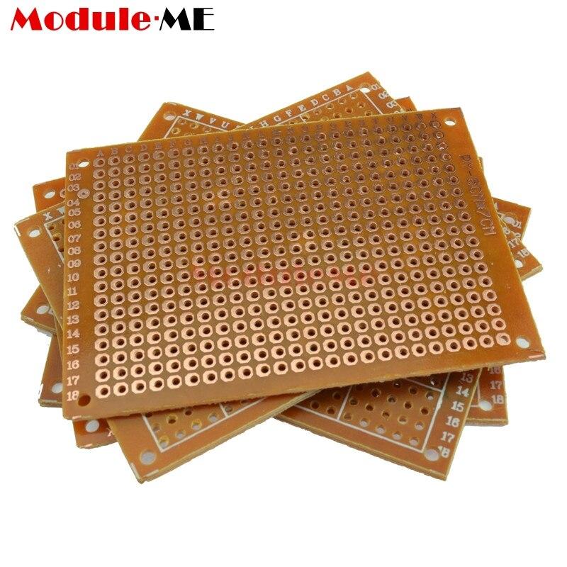 цена на 10PCS Universal PCB Board 5x7 5 x 7 cm 2.54mm DIY Prototype Paper Printed Circuit Panel 5x7cm 50x70mm