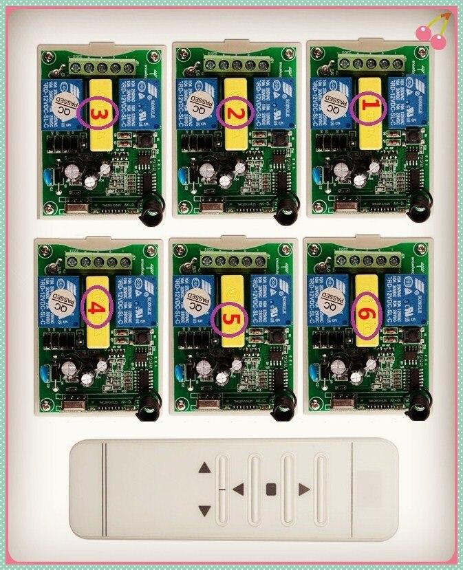 Motore tubolare porta del garage/schermo di proiezione/persiane AC 220 V RF Wireless interruttore di Telecomando Digitale screen display