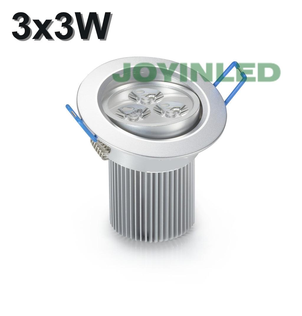 AC85-265V 9W (3 * 3W) Кръгла светеща светлина с - Вътрешно осветление - Снимка 1