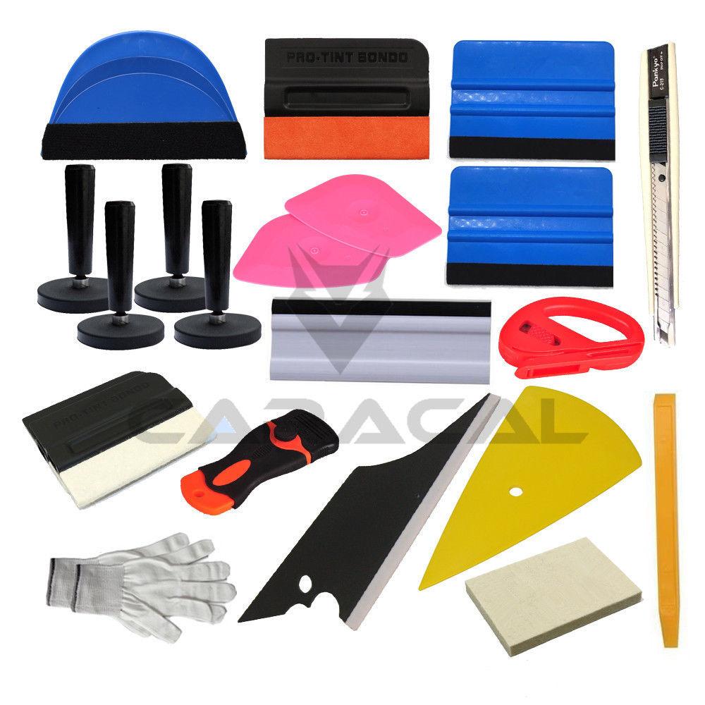 Auto voiture vinyle Film enveloppes couteau de coupe en plastique grattoir outil ensemble Automobiles sûr Film Cutter raclette outils Kit