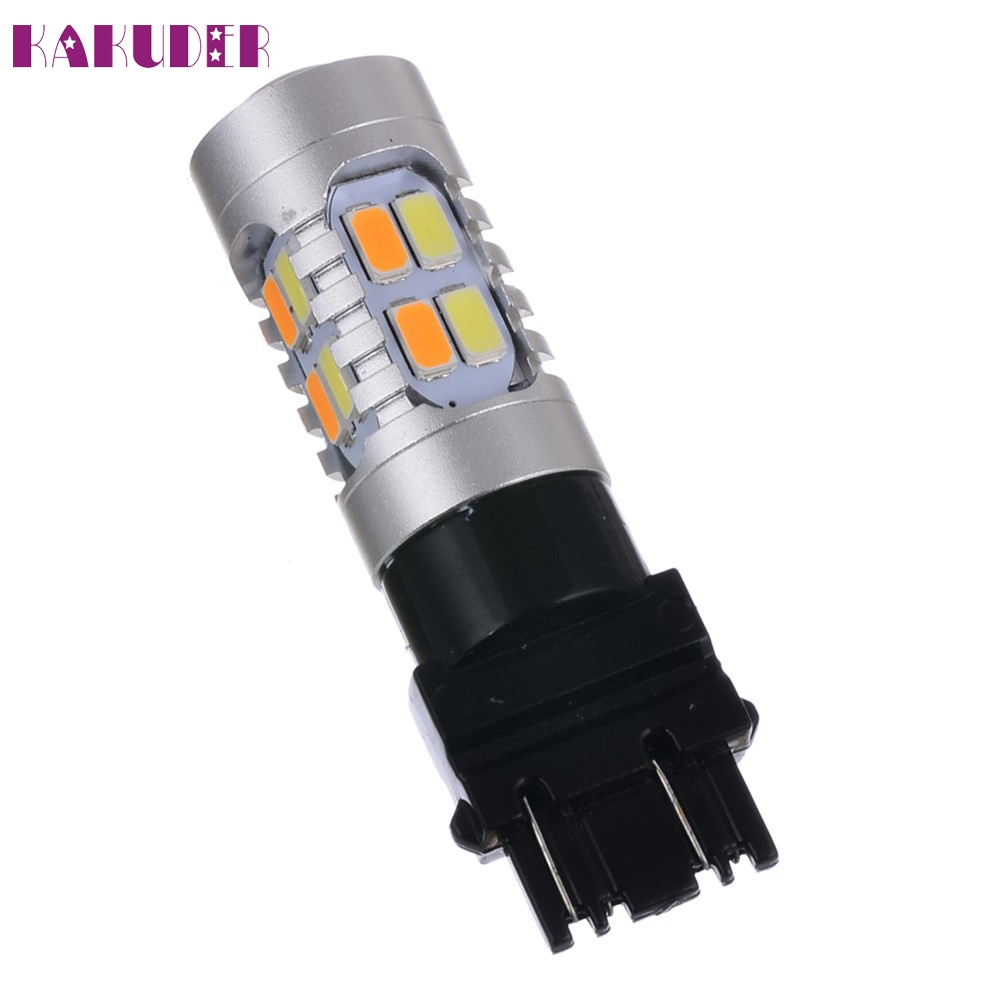 Super bright car-styling 2PC High Power T25  5630 3157 Dual Color Switchback LED Turn Signal Light Bulbs feb20 2x dual color switchback 3157 20 smd 5730 led bulbs turn signal light high power