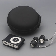 YHYZJL Protable Mini Mp3 Music Player Support Micro TFCard Slot USB MP3 Sport Port With Earphone bag