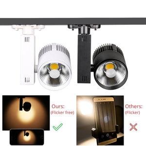 Image 4 - 40W Modern COB Track Light Dimmable Rail Spotlight Clothing Shop  Spotlight Lamps Fixtures Windows LED Track Lighting System