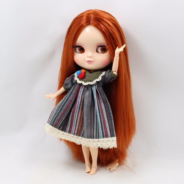 ICY Neo Blythe Doll Dark Orange Hair Azone Body 30cm