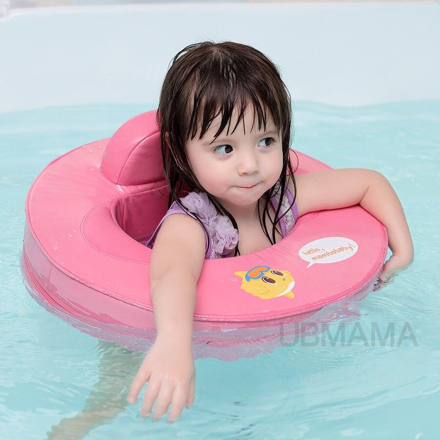 Deux utiliser bébé bébé anneau de bain gonflable gratuit sécurité vie bouée Enfants de aisselle cercle pour 1-8 ans vieux bébé