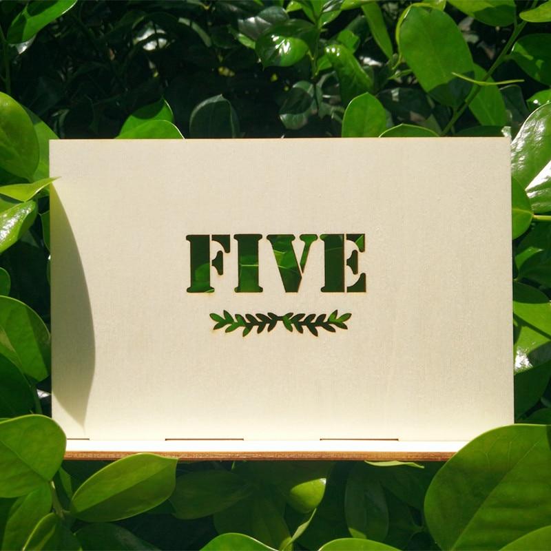Isikupärastatud puidust laua numbrid koos hoidja alusega pulmade - Pühad ja peod - Foto 2
