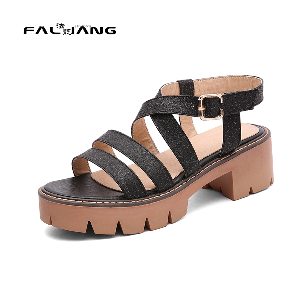Womens sandals in size 11 - Big Size 11 12 Fashion Buckle Strap Casual Peep Toe Square Heel Women S Shoes Sandals Woman For Women Platform Shoes