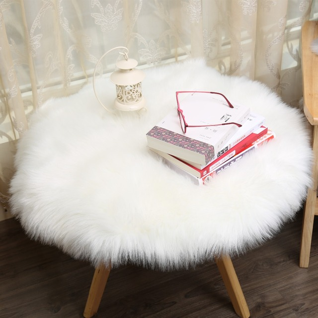 MUZZI Hairy Carpet Sheepskin Chair Cover Soft Bedroom Faux Mat Seat Pad  Long Fur Fluffy Area