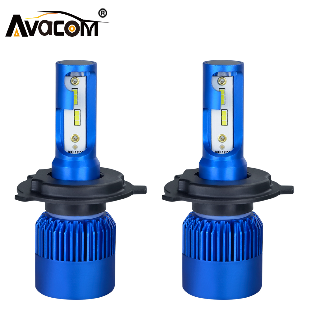 2pcs H1 H7 H11 LED Car mini Bulb 12V CSP Chip 9005 HB3 9006 HB4 H8