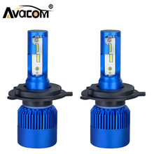 2pcs H1 H7 H11 LED Car mini Bulb 12V CSP Chip 9005/HB3 9006/HB4 H8 H9 10000Lm 6500K 72W 24V LED Headlight Ampoule Lamp For Auto(China)