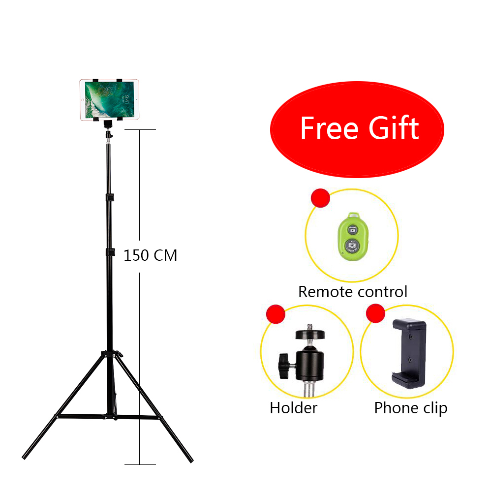 CY Aluminium DV Tripod Digital Camera Webcam Telefon Tripod Metal Stand Mount Tripod Untuk Telefon iPhone Dengan Bluetooth remote control