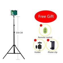 CY Aluminium Statyw Aparat Cyfrowy Kamera DV Statyw Metalowa Podstawka Statywu Montażu Telefonu Do Telefonu iPhone Z Bluetooth remote control