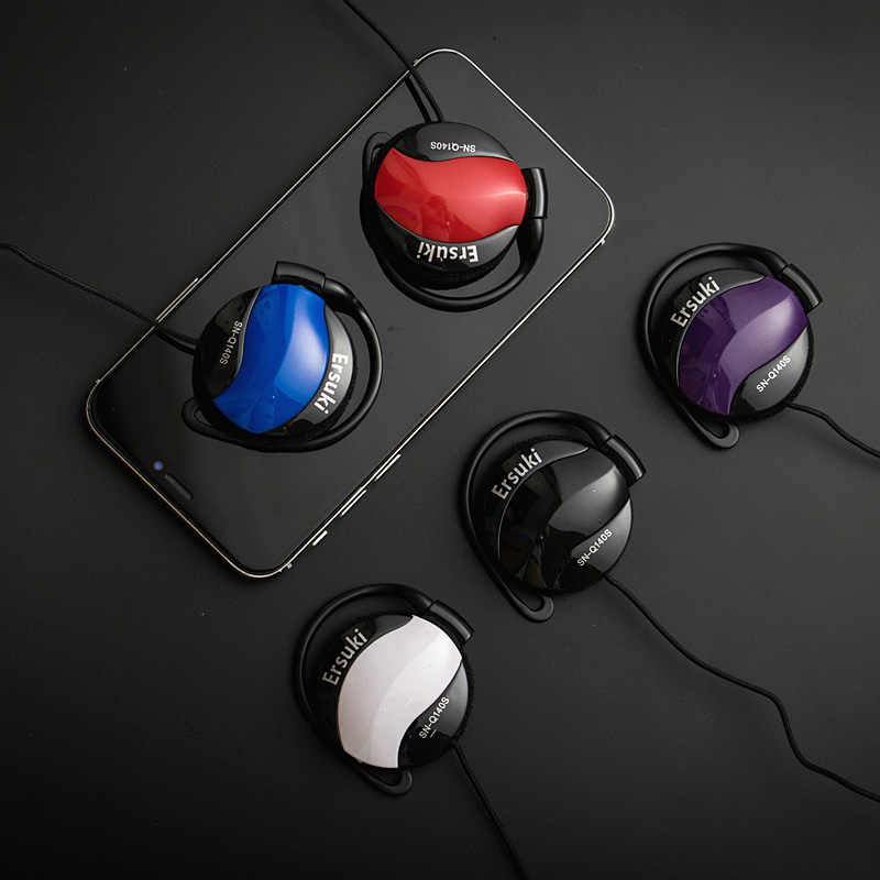 Ersuki ノイズキャンセルヘッドフォン超低音ヘッドセット耳フック音楽ヘッドフォン Ipod 用コンピュータ Mp3 プレーヤー携帯電話