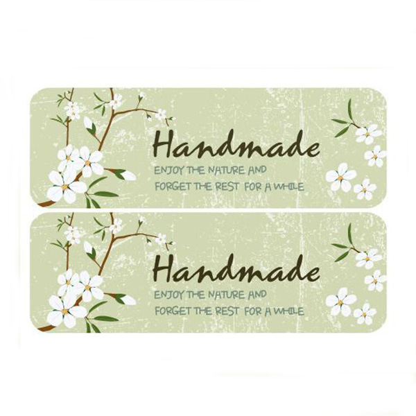 Sticker Label Bakery HAND MADE 600pcs Gift Bag Baking Bags Packaging Packing Flower Cook ...
